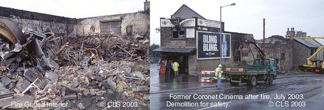 Former Coronet Cinema building gutted in 2003
