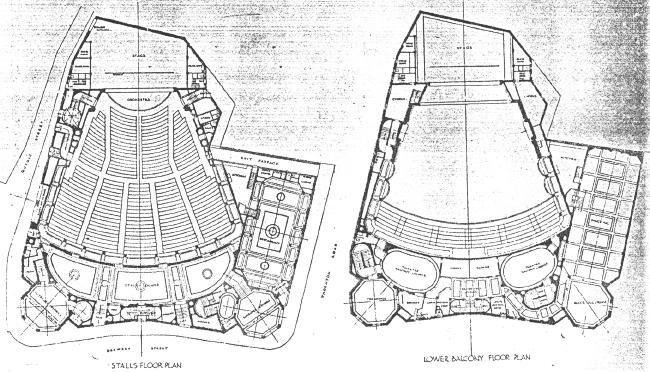 Plan of New Victoria Theatre